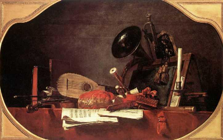 Jean-Baptiste-Siméon CHARDIN (1699-1779) Les attributs de la musique1756 Musée du Louvre, Paris