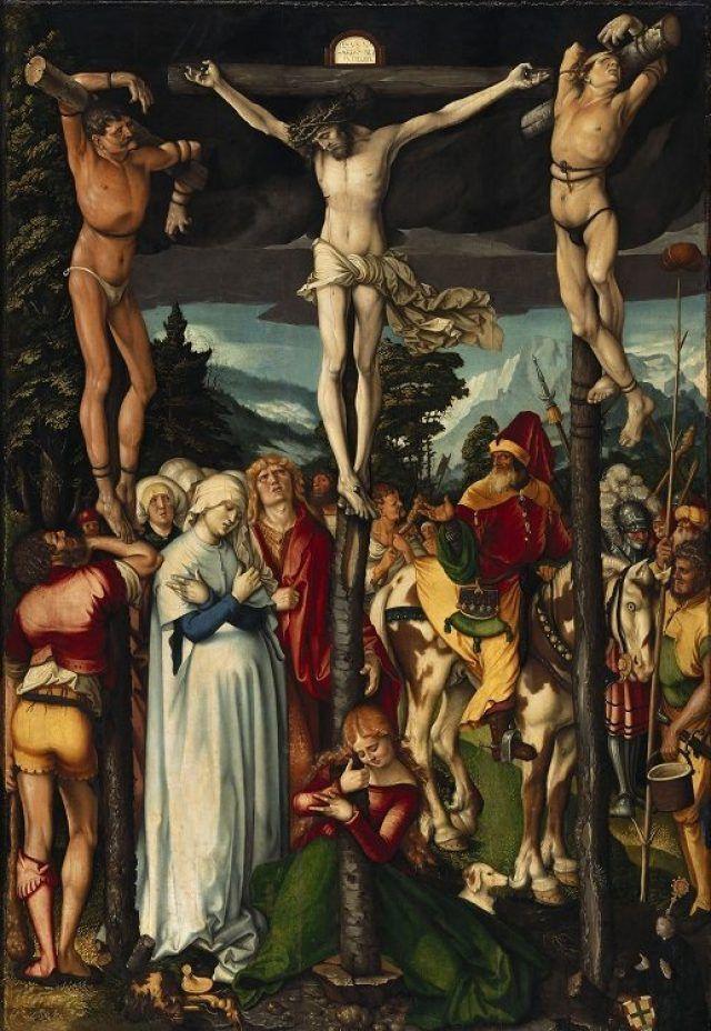 Crucifixion par Hans Baldung Grien (1484-1545)