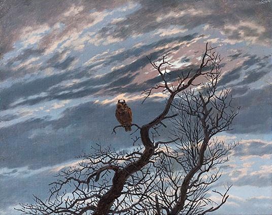 Caspar David Friedrich, Hibou sur un arbre mort (1834)