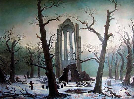 Caspar David Friedrich - Klosterfriedhof im Schnee (1817-1819)