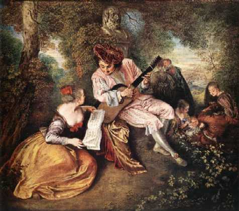 Jean-Antoine WATTEAU (1684-1721) La gamme d'amour (1717)National Gallery, London