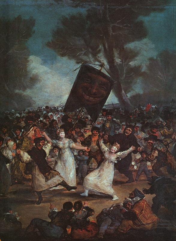 Goya - l'enterrement de la sardine