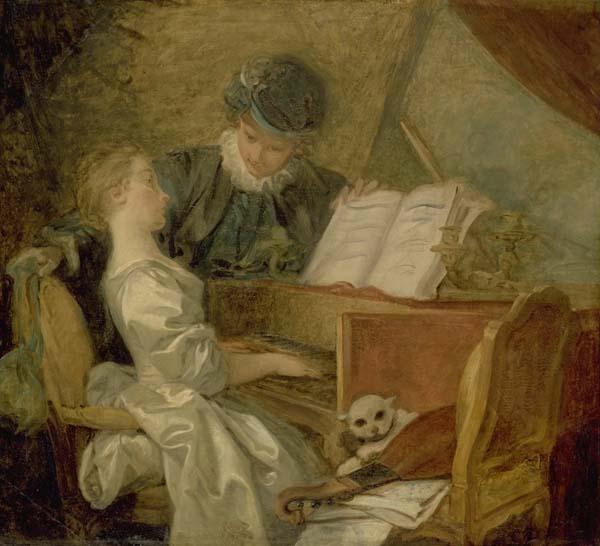 Jean-Honoré FRAGONARD (1732-1806) La leçon de musique1769Musée du Louvre, Paris
