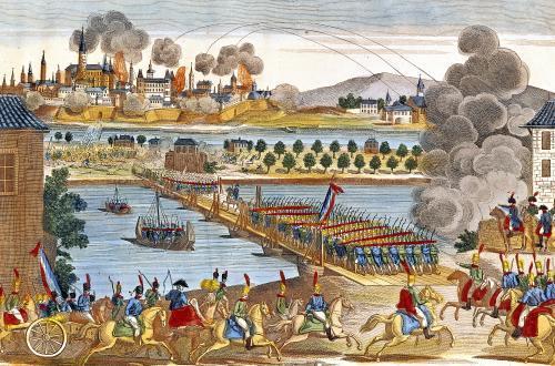 Le siège de Vienne par l' armée napoléonienne en 1809