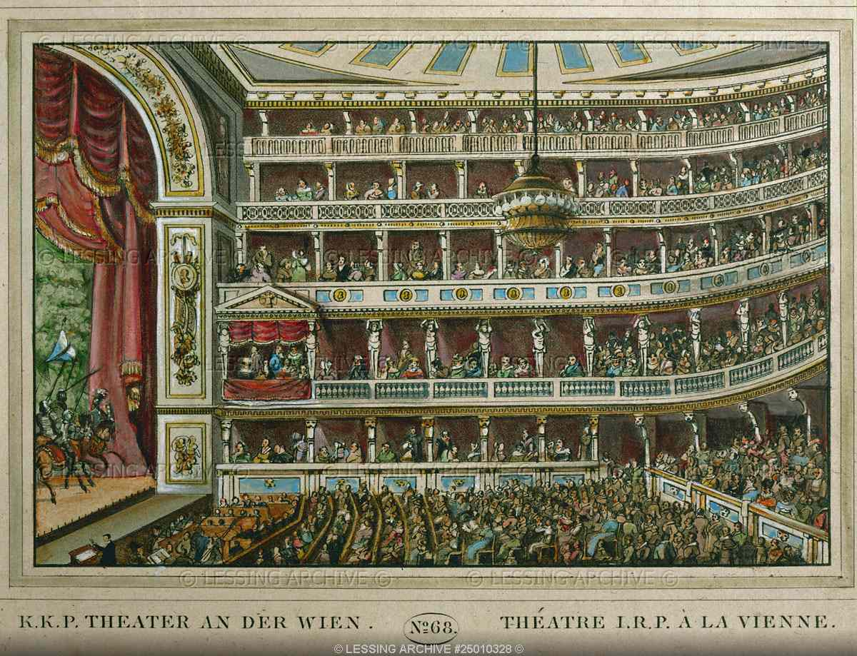 Le Theater an der Wien en 1809