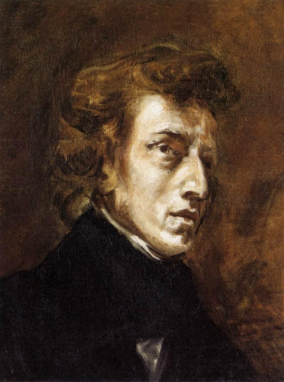 Frédéric Chopin par Delacroix