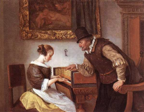Jan STEEN (1626-1679)  La leçon de clavecin (v. 1660)Wallace Collection, London
