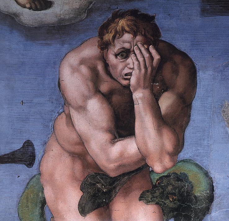 Michel Ange, le jugement dernier, Chapelle Sixtine, Vatican