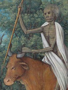 La Mort chevauchant un bœuf - Heures à l'usage de Rome, 1533
