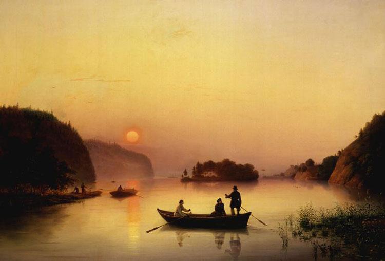 La traversée du Dniepr par Nikolaï Gogol - Anton Ivanov (1845)