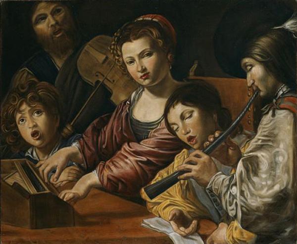 Le concert - Valentin de Boulogne - Musée du Louvre